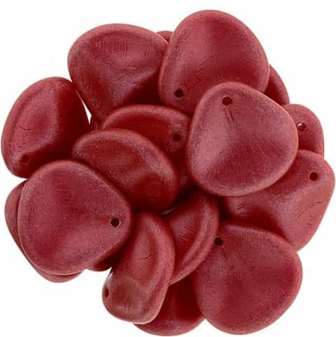 Czech Rose Petals 14/13mm - CZRP-03000-01890 - Chalk White Lava Red - 12 Petals