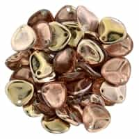 Rose Petals 8/7mm - CZRP8-27101 - Apllo (Gold) - 25 Petals