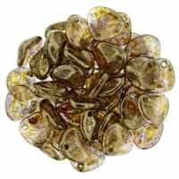 Rose Petals 8/7mm - CZRP8-BT0003 Crystal - Bronze Picasso - 25 Petals