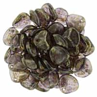Rose Petals 8/7mm - CZRP8-BT2051 - Tanzanite - Bronze Picasso - 25 Petals