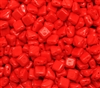 Czech Silky 2-Hole Beads 6x6mm - CZS-93190 - Opaque Red - 25 count