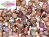 CZSBB-00030-98583 - Spiky Button Beads - Crystal Etched Copper Rainbow - 25 Beads