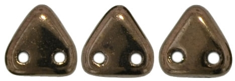 CzechMates Two Hole Trangles 6mm: CZT-14415 - Dark Bronze