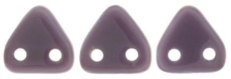 CzechMates Two Hole Trangles 6mm: CZT-23030 - Opaque Purple - 25 count