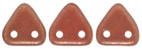 CzechMates Two Hole Trangles 6mm: CZT-29256 - Halo - Cardinal