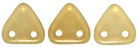 CzechMates Two Hole Trangles 6mm: CZT-29270 - Halo - Linen