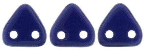 CzechMates Two Hole Trangles 6mm: CZT-33070 - Navy Blue - 25 count