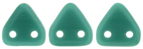 CzechMates Two Hole Trangles 6mm: CZT-6315 - Persian Turquoise - 25 count