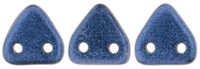 CzechMates Two Hole Trangles 6mm: CZT-79031 - Metallic Suede Blue