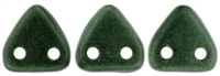 CzechMates Two Hole Trangles 6mm: CZT-79052 - Metallic Suede - Dark Forest - 25 count