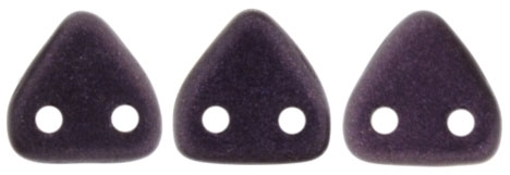 CzechMates Two Hole Trangles 6mm: CZT-79083 - Metallic Suede - Dark Plum - 25 count