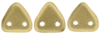 CzechMates Two Hole Trangles 6mm: CZT-K0171 - Matte Metallic Flax