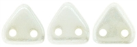 CzechMates Two Hole Trangles 6mm: CZT-L0300 - Luster - Opaque White