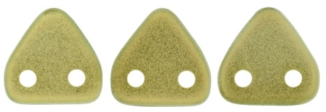 CzechMates Two Hole Trangles 6mm: CZT-P29250 - Halo Ethereal - Celadon - 25 count