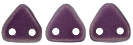 CzechMates Two Hole Trangles 6mm: CZT-P29261 - Halo Ethereal - Regal - 25 count