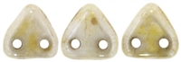 CzechMates Two Hole Trangles 6mm: CZT-P65401 - Opaque Luster - Picasso