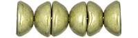 CZTC-06B09 - Czech Teacup 2/4mm Beads - ColorTrends: Saturated Metallic Limelight - 4 Grams - Approx 60 Count