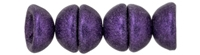 CZTC-79021 - Czech Teacup 2/4mm Beads - Metallic Suede - Purple - 4 Grams - Approx 60 Count