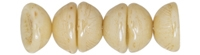 CZTC-P14413 - Czech Teacup 2/4mm Beads - Luster - Opaque Champagne - 4 Grams - Approx 60 Count