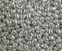 Tear Drops 6/4mm - CZTD-27000 - Silver - 25 count