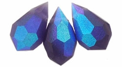 Machine Cut 6/10mm Tear Drop Crystal : CZTDC-MX2051- Matte Tanzanite AB - 1 Crystal