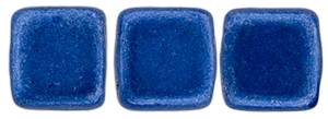 CzechMates Two Hole Tile 6mm - CZTWN06-04B09 - ColorTrends: Saturated Metallic Marina - 25 Beads