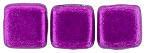 CzechMates Two Hole Tile 6mm - CZTWN06-05A10 - ColorTrends: Saturated Metallic Spring Crocus - 25 Beads