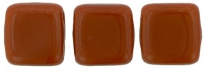 CzechMates Two Hole Tile 6mm�Umber 25 Beads