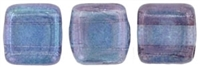CzechMates Two Hole Tile 6mm Luster - Transparent Amethyst 25 Beads