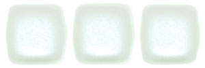CzechMates Two Hole Tile 6mm - CZTWN06-25001 - Pearl Coat - Snow - 25 Beads