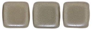 CzechMates Two Hole Tile 6mm - CZTWN06-25005 - Pearl Coat - Brown Sugar - 25 Beads