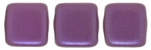 CzechMates Two Hole Tile 6mm - CZTWN06-25032 - Pearl Coat - Purple Velvet - 25 Beads