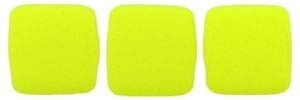 CzechMates Two Hole Tile 6mm - CZTWN06-25121 - Neon Yellow - 25 Beads