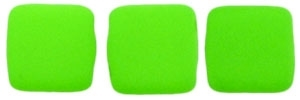 CzechMates Two Hole Tile 6mm - CZTWN06-25124 - Neon Green - 25 Beads