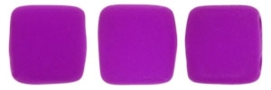 CzechMates Two Hole Tile 6mm - CZTWN06-25125 - Neon Purple - 25 Beads