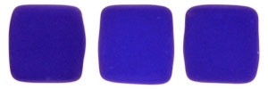 CzechMates Two Hole Tile 6mm - CZTWN06-25126 - Neon Blue - 25 Beads