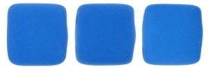 CzechMates Two Hole Tile 6mm - CZTWN06-25127 - Neon Electric Blue - 25 Beads