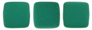 CzechMates Two Hole Tile 6mm - CZTWN06-25128 - Neon Emerald - 25 Beads
