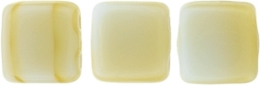 CzechMates Two Hole Tile 6mm CZTWN06-37193 Silk Blue/Taupe 25 Beads