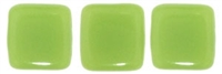 CzechMates Two Hole Tile 6mm - CZTWN06-53200 - Honeydew - 25 Beads