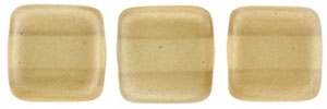CzechMates Two Hole Tile 6mm - CZTWN06-63182 - Pearl Lights - Latte - 25 Beads