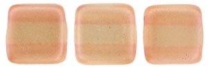 CzechMates Two Hole Tile 6mm - CZTWN06-63875 - Pearl Lights - Pomelo - 25 Beads