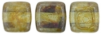 CzechMates Two Hole Tile 6mm�Luster - Transparent Green 25 Beads