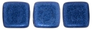 CzechMates Two Hole Tile 6mm - CZTWN06-79031 - Metallic Suede - Blue - 25 Beads