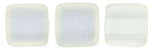 CzechMates Two Hole Tile 6mm - CZTWN06-79080CR - Sueded Gold Crystal - 25 Beads