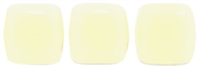CzechMates Two Hole Tile 6mm - CZTWN06-83529  - Ivory - 25 Beads