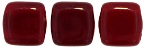 CzechMates Two Hole Tile 6mm Oxblood 25 Beads