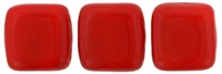 CzechMates Two Hole Tile 6mm Opaque - Red 25 Beads