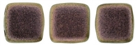 CzechMates Two Hole Tile 6mm - CZTWN06-94100 - Polychrome - Copper Rose - 25 Beads