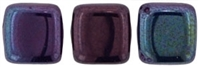 CzechMates Two Hole Tile 6mm Luster - Metallic Amethyst 25 Beads